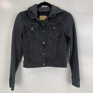 2 for $20 Hollister Black Sweater Jean Jacket